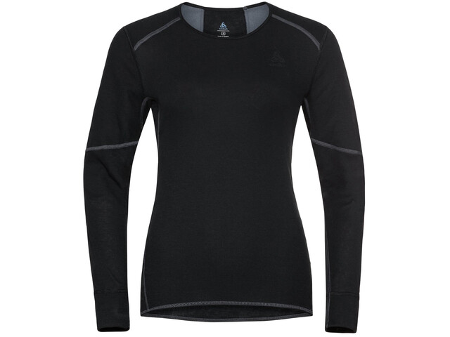 Odlo Active X-Warm Plus Maglietta girocollo a maniche lunghe Donna, nero